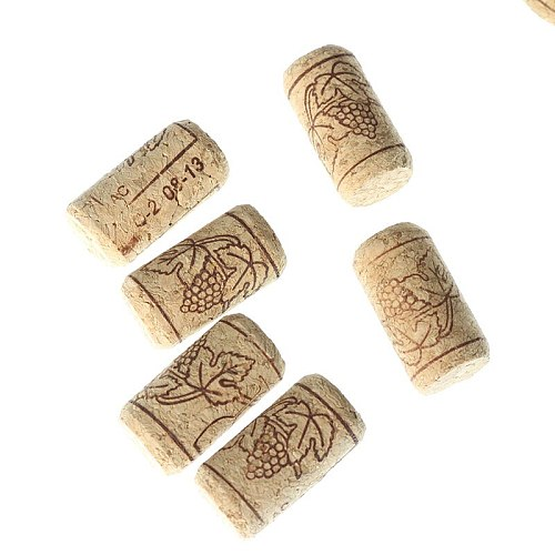 15 Pcs / Lot Straight Bottle Of Wood Cork Bottles Of Wine Clamps Of Cork Corks For Wine Bottles Bar Tools Wine Corks Wooden Stub