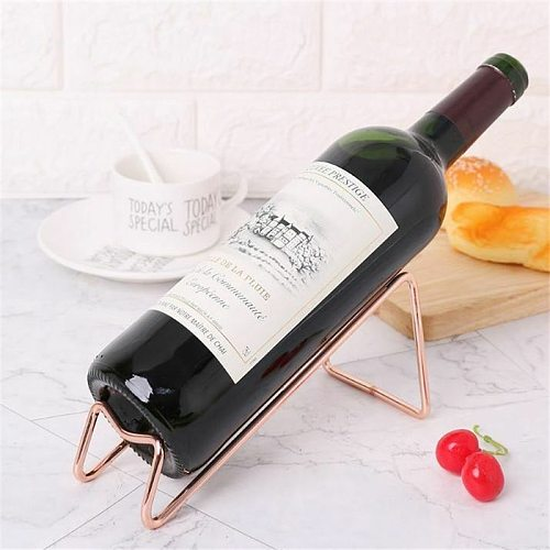 Stainless Steel Red Wine Beer Wine Holder 3 Colors Simple Electroplating Craft Wine Rack Household Wine Bottle Rack Accessories