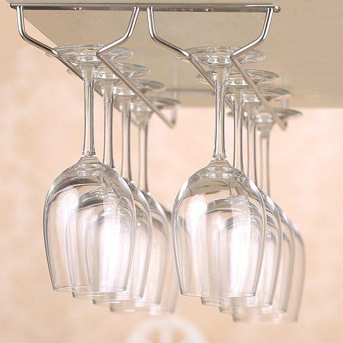 Stainless Steel Wine Rack Glass Holder Multiple Size Options Holder Rack Hanging Bar Shelf Kitchen/Restaurant Wine Glass Storage