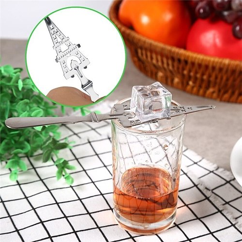 Stainless Steel Cocktail Bar Glass Cup Drinking Filter Spoon Bar Ice Strainer Wine Tools JCFCJ76