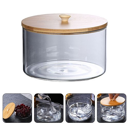 Food Storage Container Kitchen Refrigerator Storage Box Transparent Sealed Cans Tea Cup Wash Washed Tea Bowl Teaware Container
