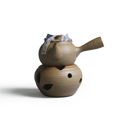 Tea Pot Alcohol Lamp Teapot Black Tea Temperature Tea Furnace Non-slip Anti-scald Ceramics Side Hold Kettle