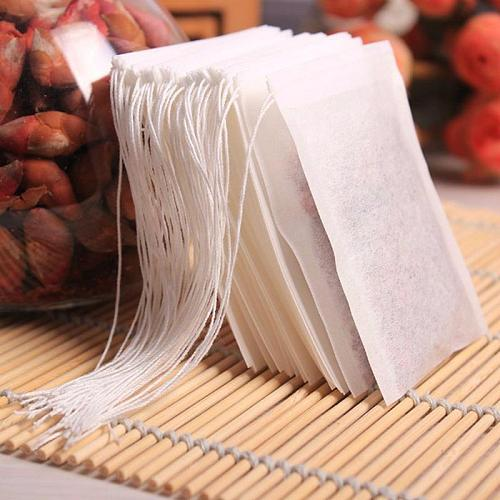 Teabags 6 x 8CM Food Grade  Empty Scented Tea Bags Infuser With String Heal Seal Filter Paper For Herb Loose Tea Bolsas