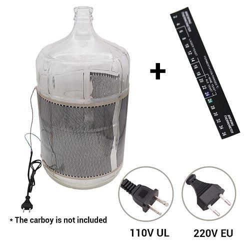 40 Watt Homebrew Electric Fermentation Wrap Heater 110v(UL) & 220V(EU) Plug Homebrew Carboy Fermenter Bucket Beer Wine