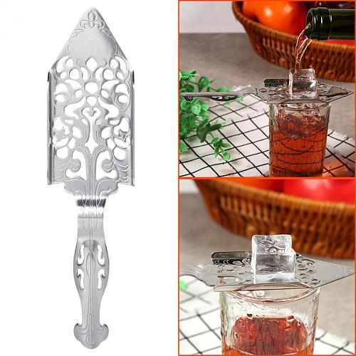 Absinthe Spoon Cocktail Bar Stainless Steel Utensils Bitter Scoop Glass Cup Spoons Drinkware Filter Spoon Bar Wine Accessories