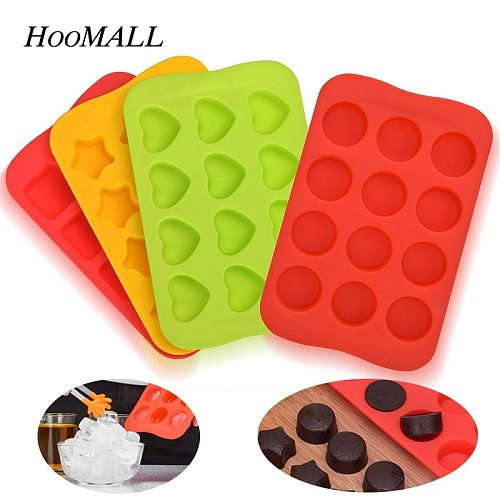 New Ice Cube Tray 100% Food Grade Silicone Mold Chocolate Mould 12 Grids Soft Ice Maker Jelly Pudding Mould Ice Cube Maker