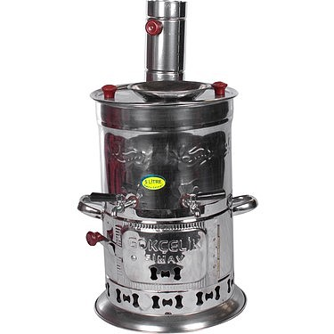 Stainless Steel Samovar Wood Burning Charcoal Camping Stove Teapot Outdoor Tableware Camping Accessories Coffee Machine Tablewar