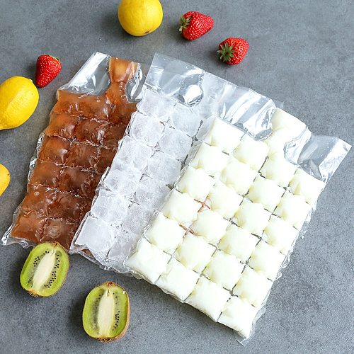10Pcs 24 Grids Disposable Ice-making Bags Ice Cube Tray Mold Self Sealing Self-sealing disposable ice bag #20