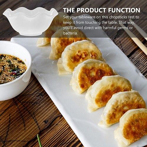 4 Pcs 1 Set Multipurpose Snack Dishes Seasoning Trays Snack Bowls (White)