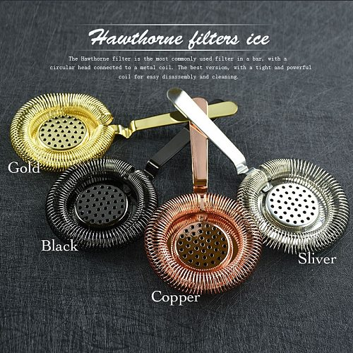 Sprung Bar Cocktail Strainer Stainless Steel Deluxe Strainer Bar Tool Wine Ice Strainer Bar Percolator