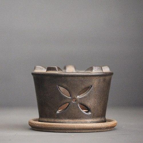 LUWU bronze ceramic tea fire stove vintage tea heat warmers tea accessories