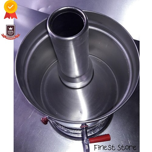 4.5 LT Stainless Steel Samovar Wood Stove Camping Accessories Kettle Tea Warmer Kitchen Utensils Multicooker Coffee Maker Picnic