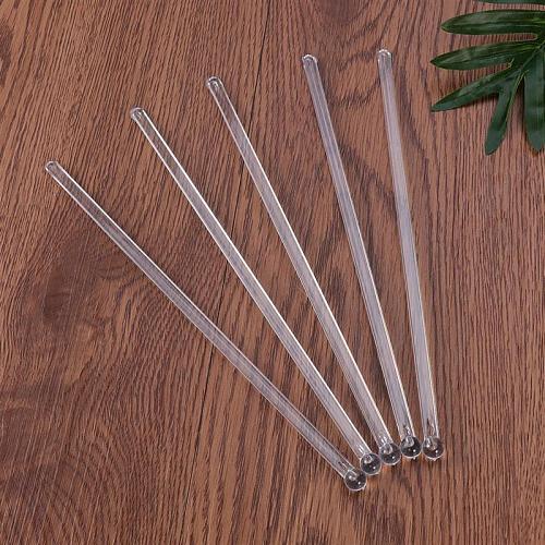 150pcs Bar Cocktail Sticks Wholesale Transparent Cocktail Drink Bar Muddler Round Head Stirring Mixing Stirrer Swizzle Stick A35