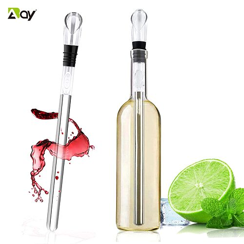 Ice Wine Chiller Stainless Steel Cooler Beer Wine Aerator and Pourer Bottle Stick Rapid Iceless Perfect Kitchen Bar Accessories