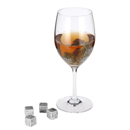 6pcs Whiskey Stones Sipping Ice Cube Cooler Reusable Whisky Ice Stone Whisky Natural Rocks Bar Wine Cooler Party Wedding Gift