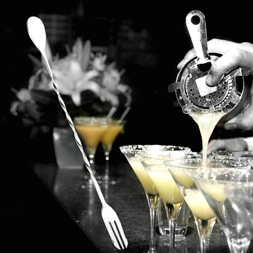 HOT Sale Stainless Steel Threaded Bar Spoon Swizzle Stick Coffee Cocktail Mojito Wine Spoons Barware Bartender Tools Accessories