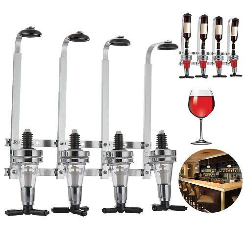 Bar Tools Wall Mounted 1/3/4 Station Liquor Wine Dispenser Pourer Alcohol Bottle Dispenser Beverage Pourer Bottle Holder Homeuse