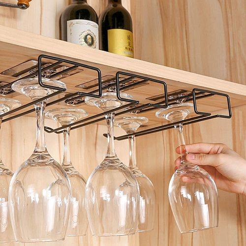 High Quality Useful Iron Wine Rack Glass Holder Hanging Bar Hanger Shelf Stainless Steel Wine Glass Rack Stand Paper Roll Holder