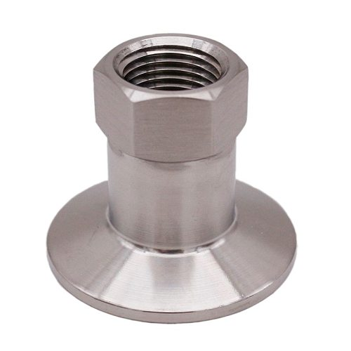 1.5  TC x 1/2  FPT, Stainless Steel 304, 3A Standard, Homebrew Clover Fitting