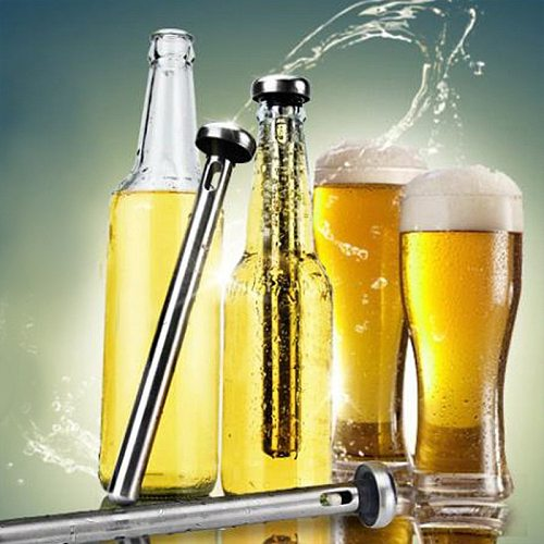 1Pcs Stainless Steel Beer Chiller Stick Beer Chiller Stick Portable Beverage Cooling Ice Cooler Beer Kitchen Tools
