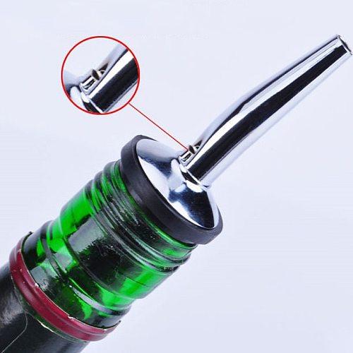 Stainless Steel Wine Bottle Pourer Oil Cork Bartender Wine Accessories Liquor Spirit Freeflow Spout Stopper Kitchen Bar Tools