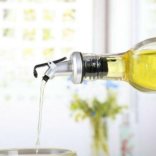 New Oil Bottle Stopper Lock Plug Seal Leak-proof Food Grade Rubber Nozzle Sprayer Liquor Dispenser Wine Pourer Kitchen Bar Tool