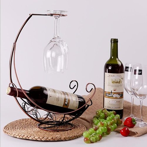 Hot Sale Creative Freestanding Tabletop Wine Rack Stemware Holder Home Decoration Wine Glass Holder