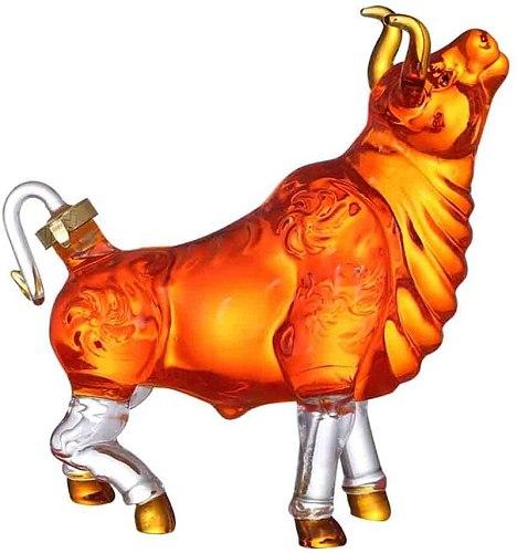 Novelty animal cow shaped style home bar Whiskey Decanter for Liquor Scotch Bourbon 33.81 oz