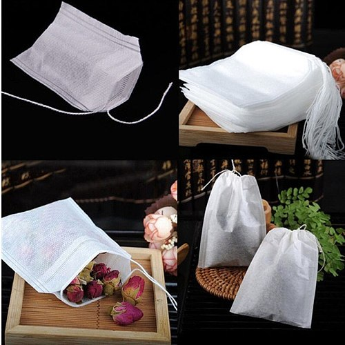 4Size Disposable Tea Bags Filter Bags For Tea Infuser With String Heal Seal  Food Grade Non-Woven Fabric Spice Filters Teabags