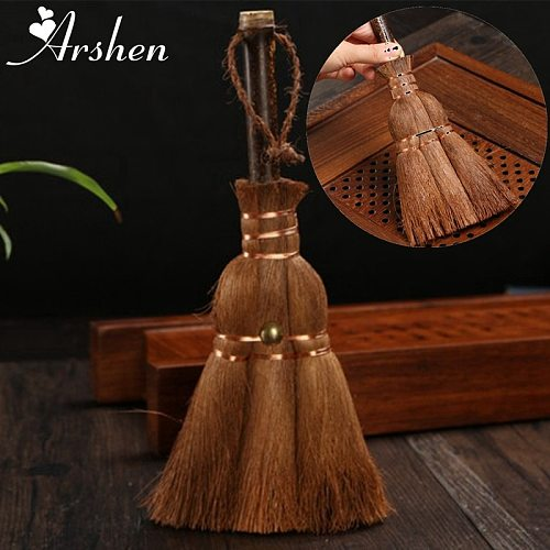 Arshen Brown Plants Fibre Tea Brush Bristle Kung Fu Tea Tray Tea Sets Cleaning Brush Teaware Home Kitchen Tea Tools Accessories