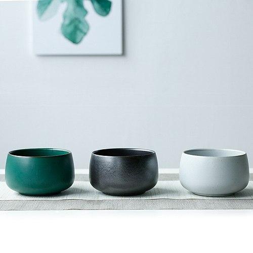 Large Ceramic Tea Basin Cup Wash Handmade Vintage Coarse Pottery Washed Tea Basin Tea Slag Bucket Water Tea Set Accessories