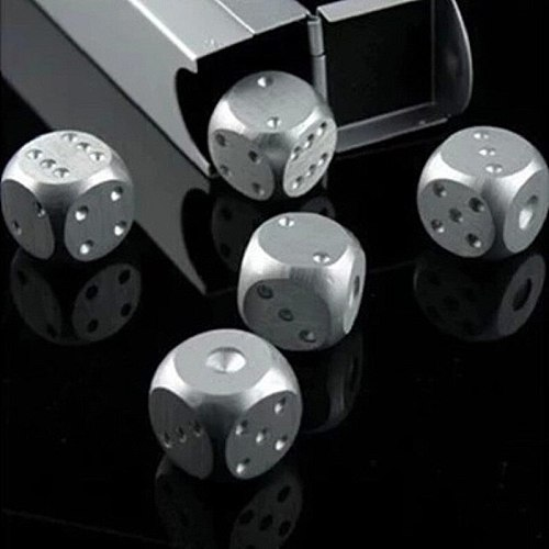 5pcs Stainless Steel Whisky Dice Stones Ice Cubes Bucket Reusable Chilling  for Whiskey Wine Keep Your Drink Cold Longer