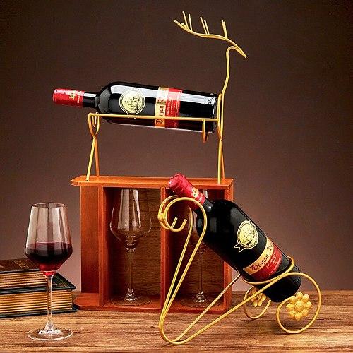 iron art light luxury red wine shelf decoration home living room  wine cabinet table decoration store red wine display shelf