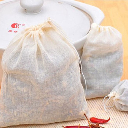 NEW Empty Tea Bag Food Cotton Drawstring Bag Strainer Tea Spice Separate Filter Bag For Drinking Tea Tools 50pcs/lot