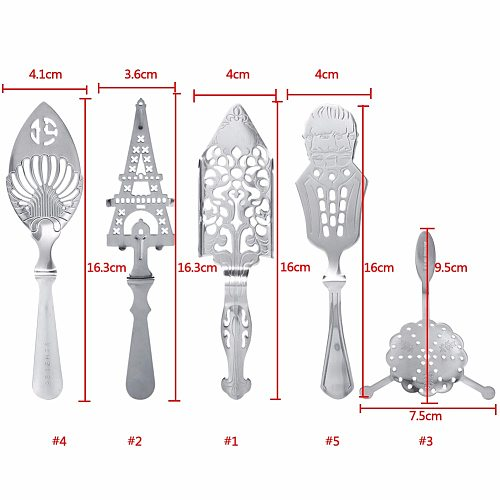 Stainless Steel Absinthe Spoons Wire Mixed Strainer Cocktail Shaker Drinking Colander Filter Bar Wormwood Spoon Bar Accessories