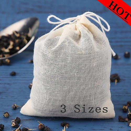 20pcs/Lot Empty Tea Bags with String Teaware Filter for Herb Loose Tea Soup Flavoring Cooking Teabags Kitchen Accessaries