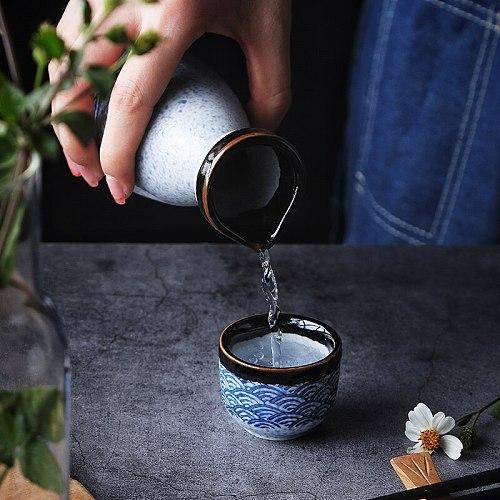 RUX WORKSHOP Japanese Style Sake Wine Warm Chinese Wine Set Home Ceramic Sake Wine Set