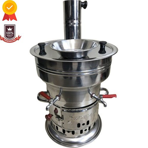 Stainless Steel Samovar Wood Stove Kettle 7 Liter Camping Equipment Coffee Machine Multicooker Outdoor Camping Kitchenaid