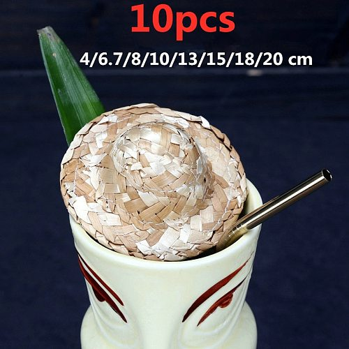 10pcs Fruit Cocktail Pick Stick Mini Decorative Small Straw Hat For Cocktail Drink Cocktail Picks Bar Tools Bar Accessories