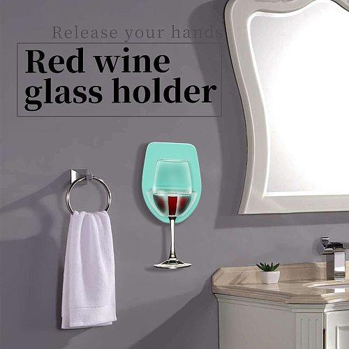 1pcs Watt Plastic Wine Glass Holder For The Bath Shower Red Wine Glass Holder Bar Bathroom Accessories Kitchen Gadget Tools