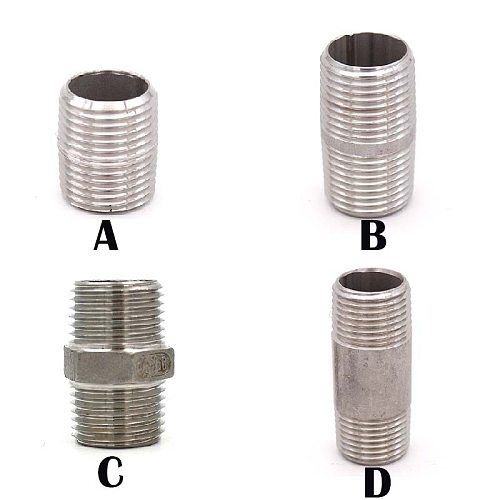 1/2 NPT Nipple Stainless Steel 304 Pipe Fitting Homebrew Hardware