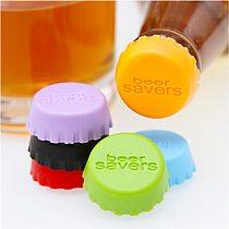 6pcs/lot Mix-colored Silicone Beer Bottle Cap 2.8cm Wine Stopper Vinegar Soy Corktail Lid Bottle Cover Good Seal Kitchen Gadgets