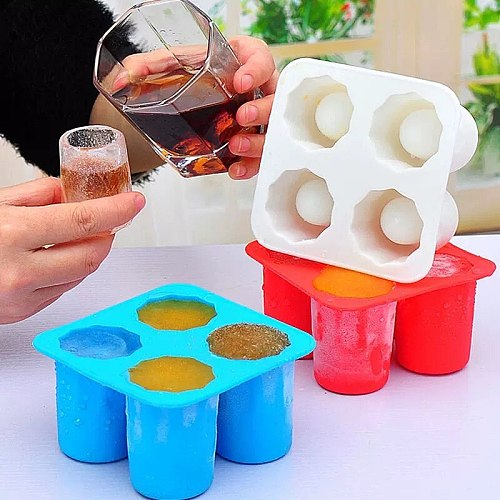 Bar Soul Creative Shot Glass Mold Ice Mold Ice Block Ice Maker Bright Ice Bartender Tools Food Grade Rubber Durable Box