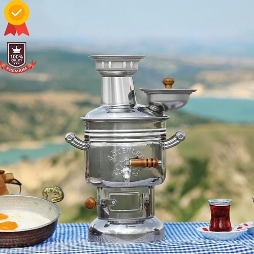 Kettle Samovar Wood Stove Charcoal Camping Coffee Machine For Camping supplies Kitchen Survival Multicooker Tableware Camp Utens