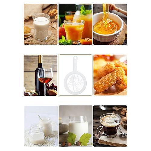 New Kitchen Ultra-fine Mesh Strainer Kitchen Nylon Mesh Filter Spoon For Soy Milk Mesh Oil Strainer Flour Colander Sieve Sifter