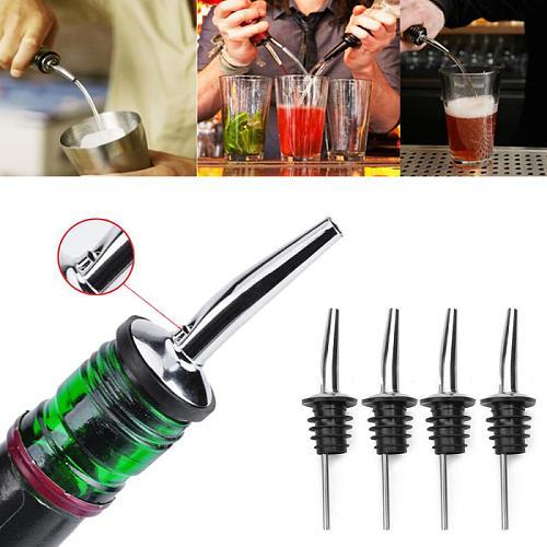 Bar Bottle Stopper Wine Bottle Pourer Stainless Steel Whisky Liquor Cap Spout Stopper Mouth Dispenser Bartende Wine Accessories