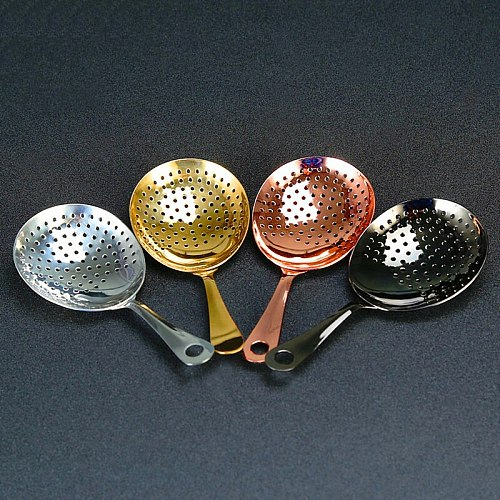 Julep Strainers Bar Strainer Cocktail Strainer Stainless Steel for Cocktail Drinks Home or Commercial Bar Use