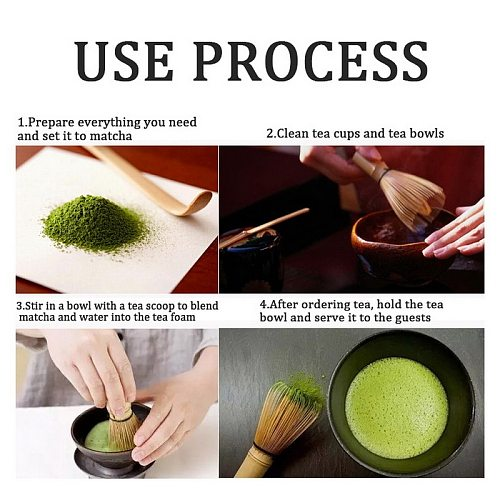 1PC Matcha Green Tea Powder Whisk Matcha Bamboo Whisk Bamboo Tea Stick Useful Brush Tool Kitchen Accessories