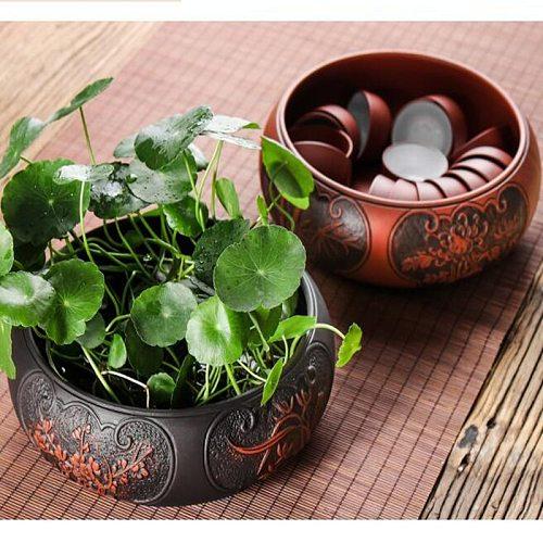 Large Stump Tea Wash Chinese Tea Set Multifunctional Plum Orchid Dragon Phoenix Tea Wash Ceramic Accessories Tea Ceremony