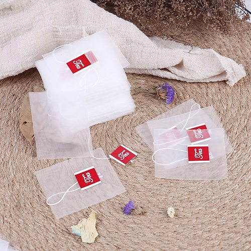 100pcs/lot Tea Bag Infuser With String Heal Seal 7 x 6cm Sachet Filter Paper Teabags Empty Tea Bags